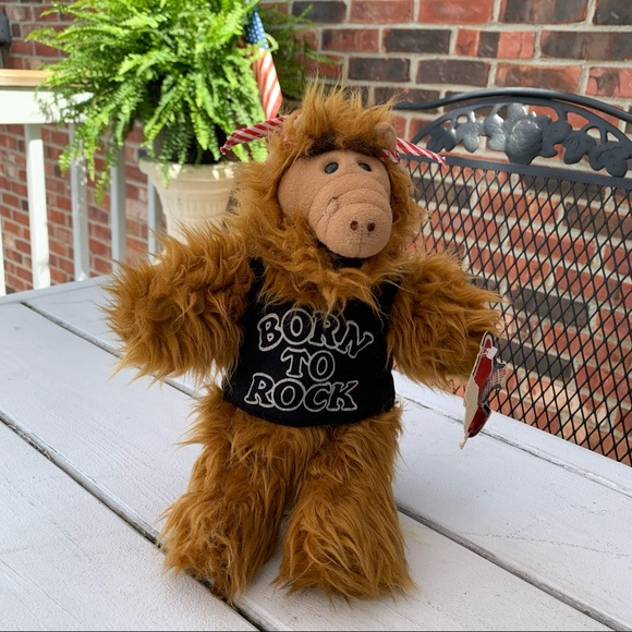 """Vintage 1988 Alf """"Born to Rock"""" Hand Puppet"""
